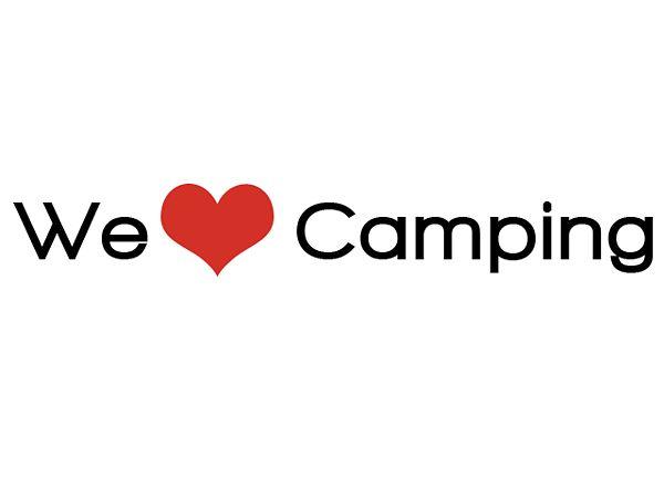 Aufkleber - We love Camping - 30 cm