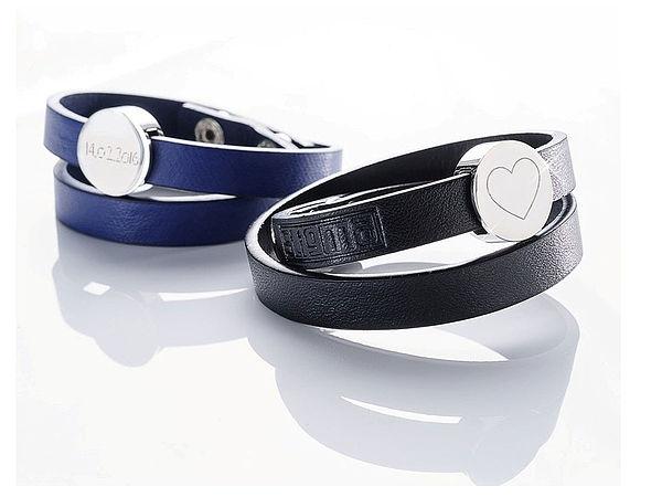 Exklusives Armband aus Leder mit individueller Gravur
