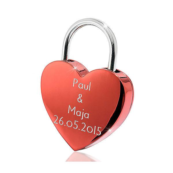 Individuellbesonders - großes Liebesschloss mit individueller Gravur - Onlineshop 1a Geschenkeshop