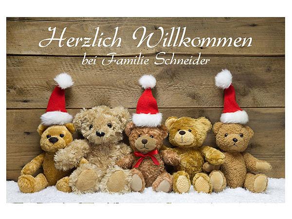 Weihnachtsdeko Fußmatte mit niedlichen Teddybären