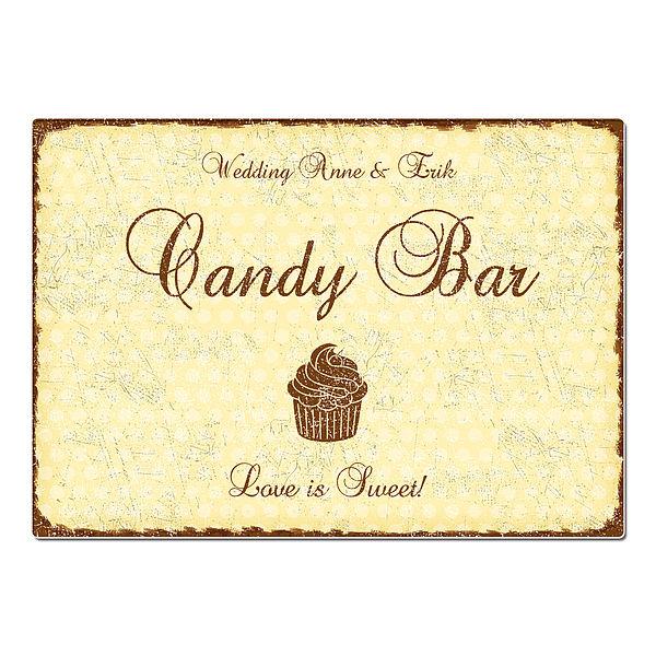hochzeitsdeko schild candy bar format a3 gelb g5822 ebay. Black Bedroom Furniture Sets. Home Design Ideas