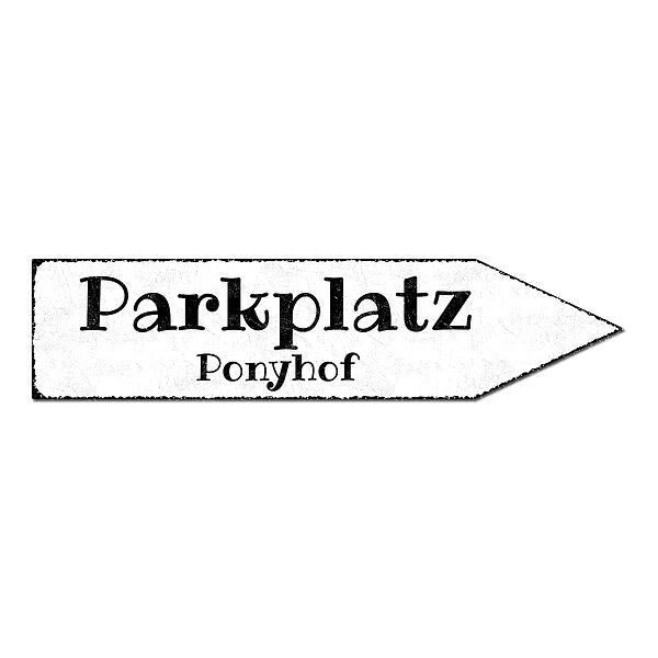 Wegweiser mit Wunschtext - 41,5 x 10 cm vintage weiß