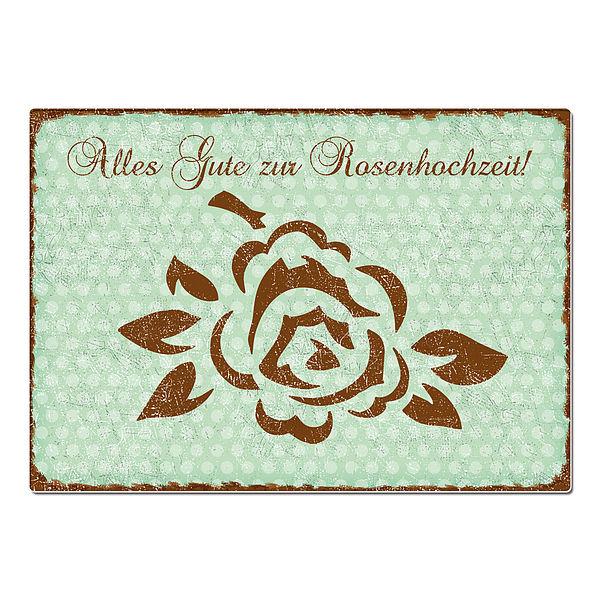 Geschenk zur Rosenhochzeit - Schild A4