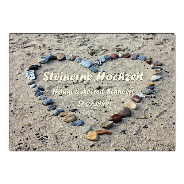 Geschenk zur Steinernen Hochzeit - Schild A4 mi...