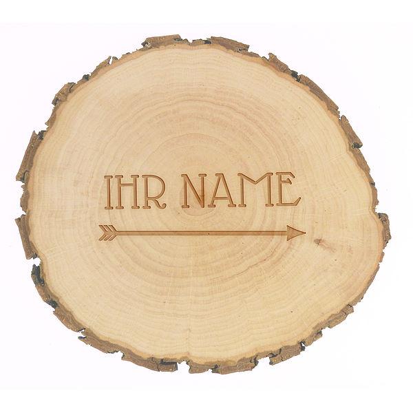 Baumscheibe mit Namensgravur Größe: ca. 9-10 cm