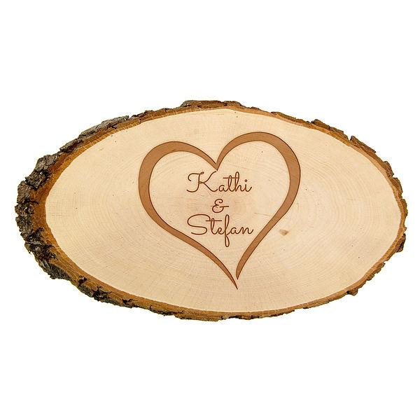 Geschenk zum Einzug - Holzschild mit Wunschtext Größe: ca. 24 x 11 x 1 cm