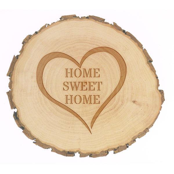 Holzdeko - Home Sweet Home Größe: ca. 9-10 cm