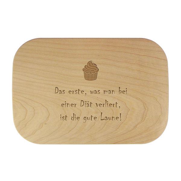 Schneidebrett aus Holz mit Wunschtext 28x19x1,5 cm