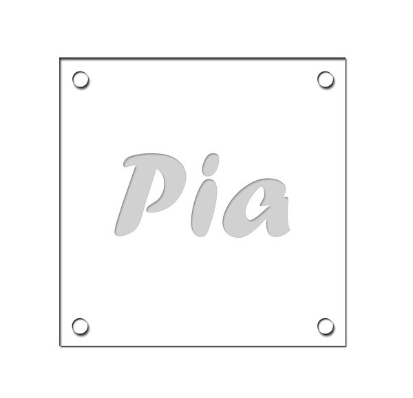 4er Set Untersetzer mit verschiedenen Vornamen 10 x 10cm