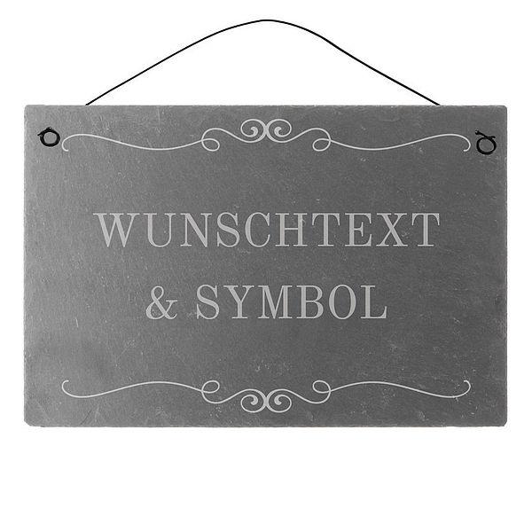 Dekoschild aus Schiefer 300 x 200 mm mit Wunsch...