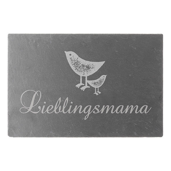 Schieferschild Lieblingsmama 300 x 200 mm mit W...