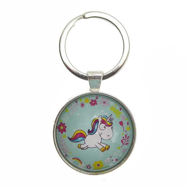 Ausgefallenkleineaufmerksamkeiten - Schlüsselanhänger mit laufendem Einhorn mint - Onlineshop 1a Geschenkeshop