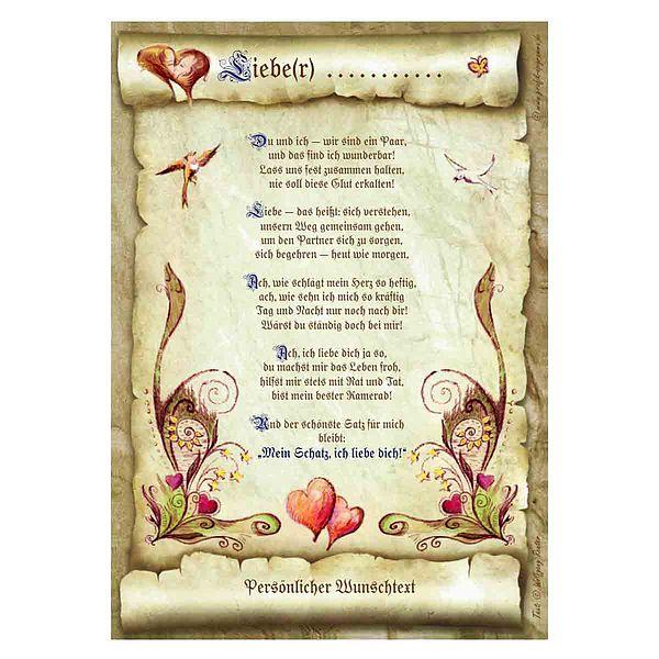 Urkunde für den Liebsten / der Liebsten mit Wunschtext