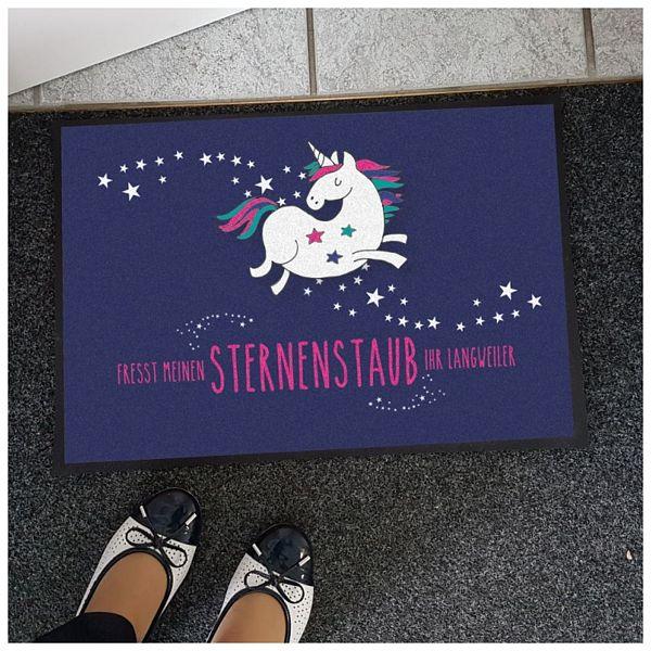 Nützlichwohnaccessoires - Einhorn Fußmatte Fresst meinen Sternenstaub Ihr Langweiler - Onlineshop 1a Geschenkeshop
