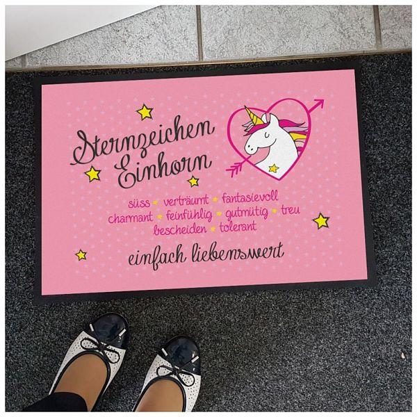 Nützlichwohnaccessoires - Einhorn Fußmatte Sternzeichen Einhorn - Onlineshop 1a Geschenkeshop