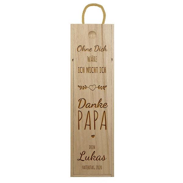 - Weinkiste mit Gravur zum Vatertag Design 1 - Onlineshop 1a Geschenkeshop