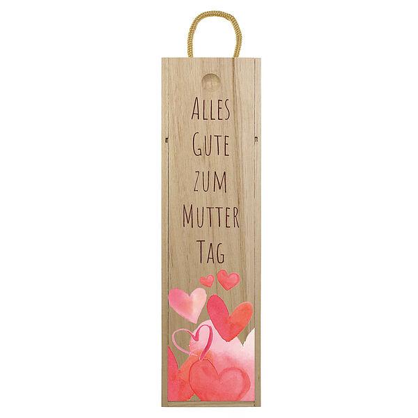 Weinbox zum Muttertag - bedruckt Design 2