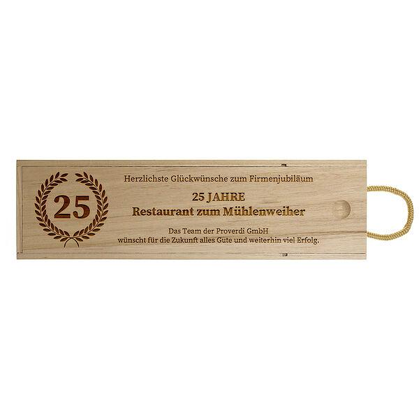 - Geschenk zum Jubiläum Weinbox Design 1 - Onlineshop 1a Geschenkeshop