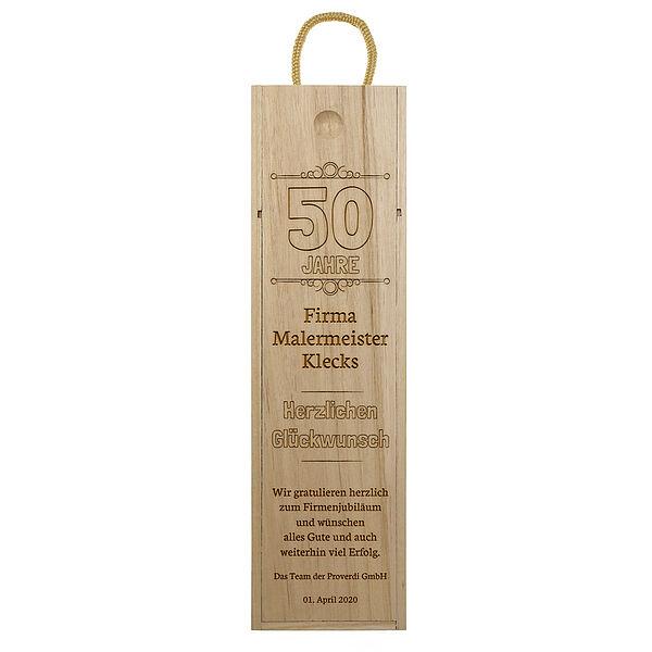 - Holzbox zum Jubiläum mit Gravur Design 3 - Onlineshop 1a Geschenkeshop