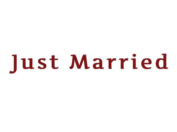 Hochzeitsgeschenk: Heckscheibenaufkleber Just Married 30 cm lang