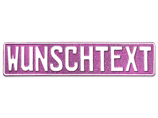 Namensschild mit Wunschnamen und Symbol - glitzer pink