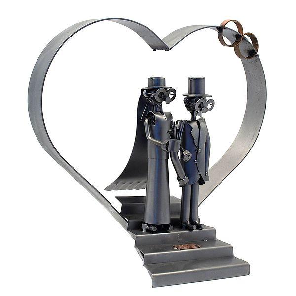 Hochzeitsgeschenk Schraubenmannchen Als Paar Mit Hochzeitsherz