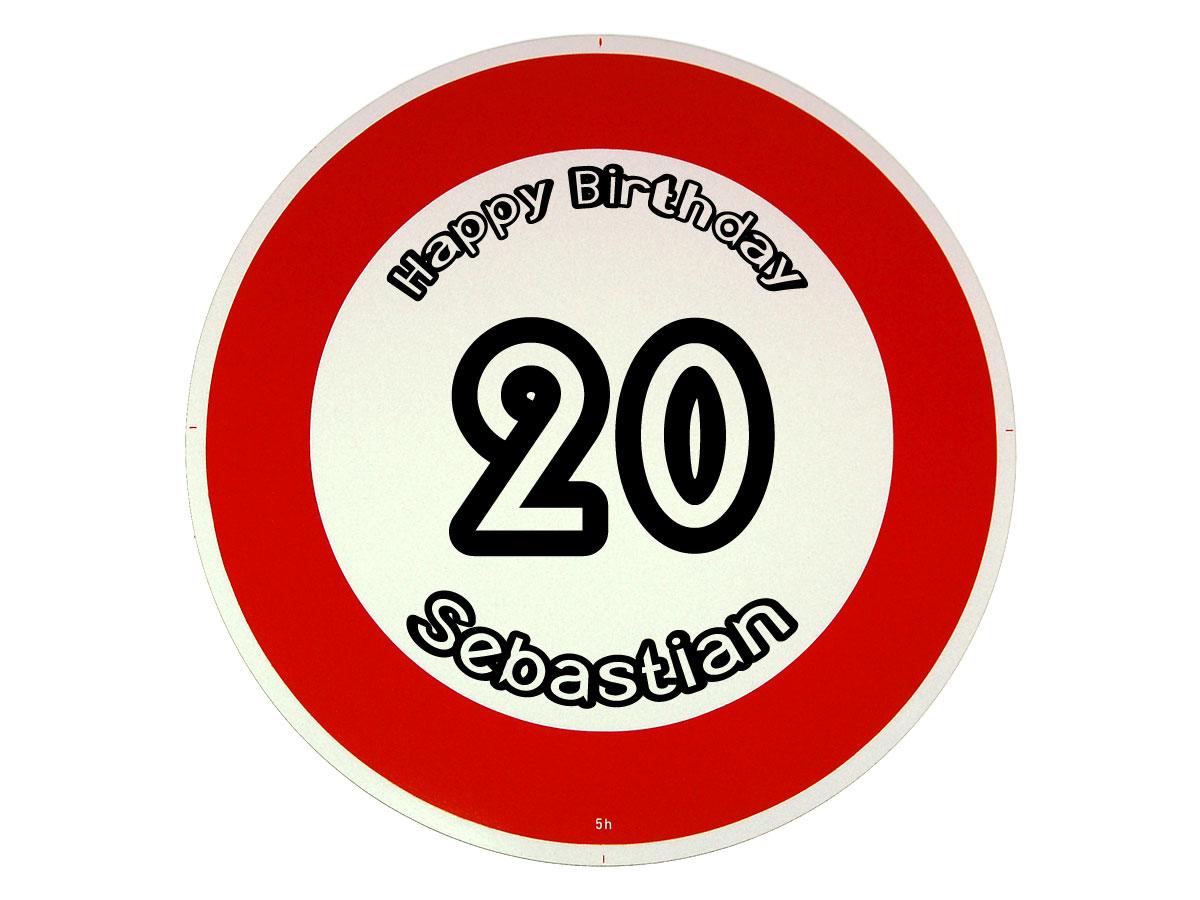 Verkehrsschild Als Geburtstagsgeschenk Geschenk Zum 20 Geburtstag Geschenke Online Kaufen Individuelle Und Personalisierte Geschenkideen Mit