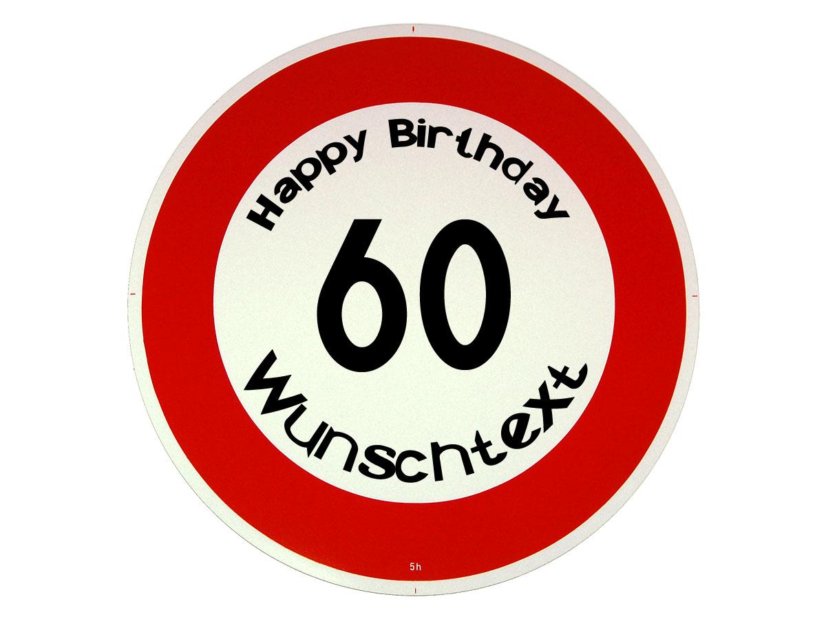 Schild 60. Geburtstag Zum Ausdrucken - Schild Geschenk zum ...