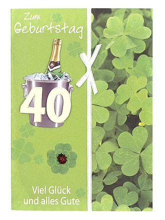 Geburtstagskarte Zum 40. Geburtstag Mit Briefumschlag