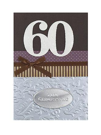 geburtstagskarte zum 60 geburtstag mit briefumschlag. Black Bedroom Furniture Sets. Home Design Ideas