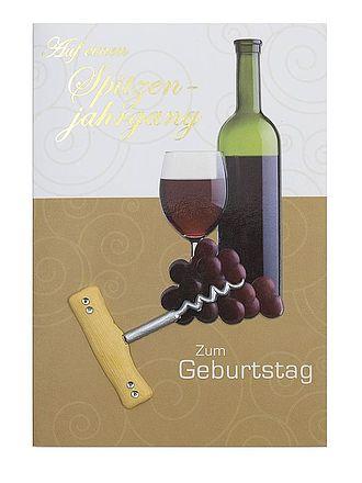 Geburtstagskarte Wein Zum Geburtstag Mit Briefumschlag Online