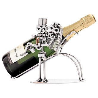 Hochzeitsgeschenk Brautpaar Aus Metall Als Flaschenhalter Online