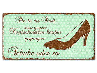 Dekoschild im Retro Look mit Polka Dots 300 x 150mm mint