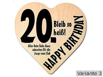 Geburtstag geschenk mann 20