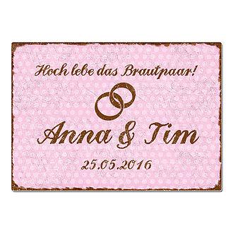 Hochzeitsgeschenk Schild Hoch Lebe Das Brautpaar Format A3
