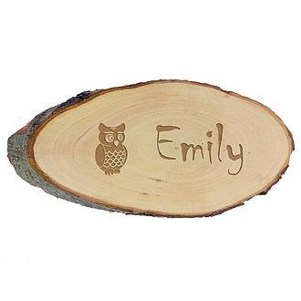 Namensschild aus Holz für das Kinderzimmer Größe: ca. 24 x ...