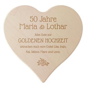 Schneidebrett Aus Holz Mit Gravur Zur Goldenen Hochzeit