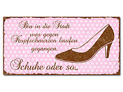 Dekoschild im Retro Look mit Polka Dots 300 x 150mm rosa